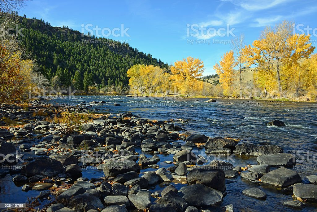 Big Hole River near Divide, Montana stock photo