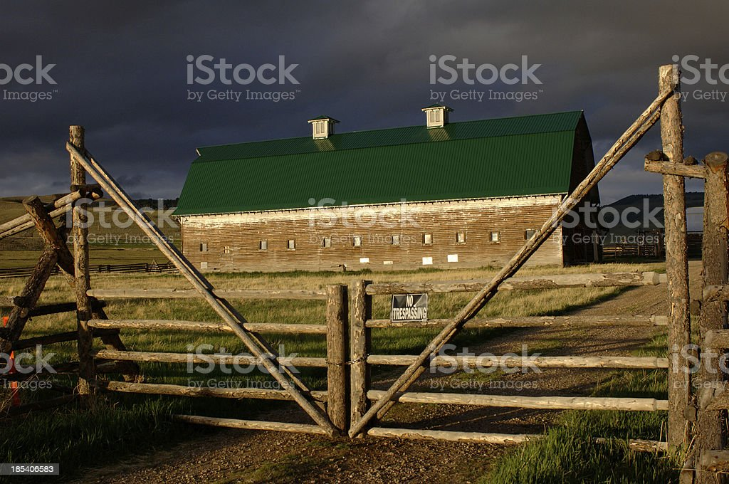Big Hole Valley Barn 2 stock photo