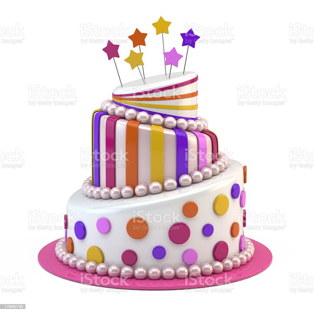 Big holiday cake royalty-free stock photo