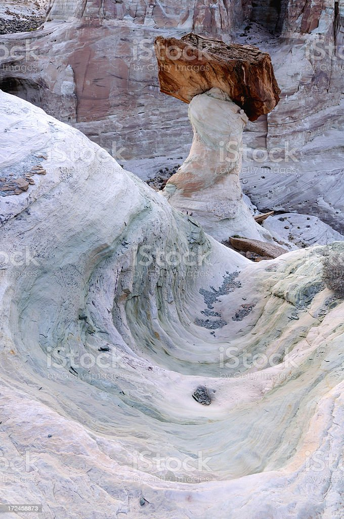 Big hoodoo at Stud Horse Point, Arizona, USA stock photo
