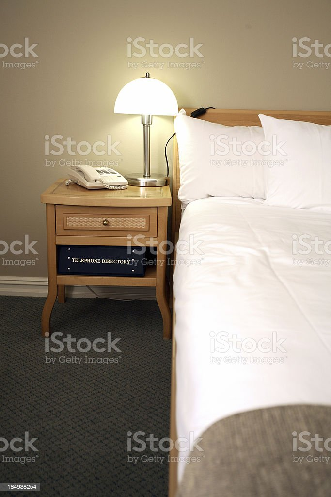 Big Hotel Bed royalty-free stock photo