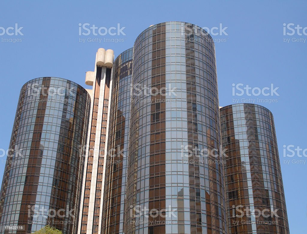 Big Hotel Westin Bonaventure Los Angeles royalty-free stock photo