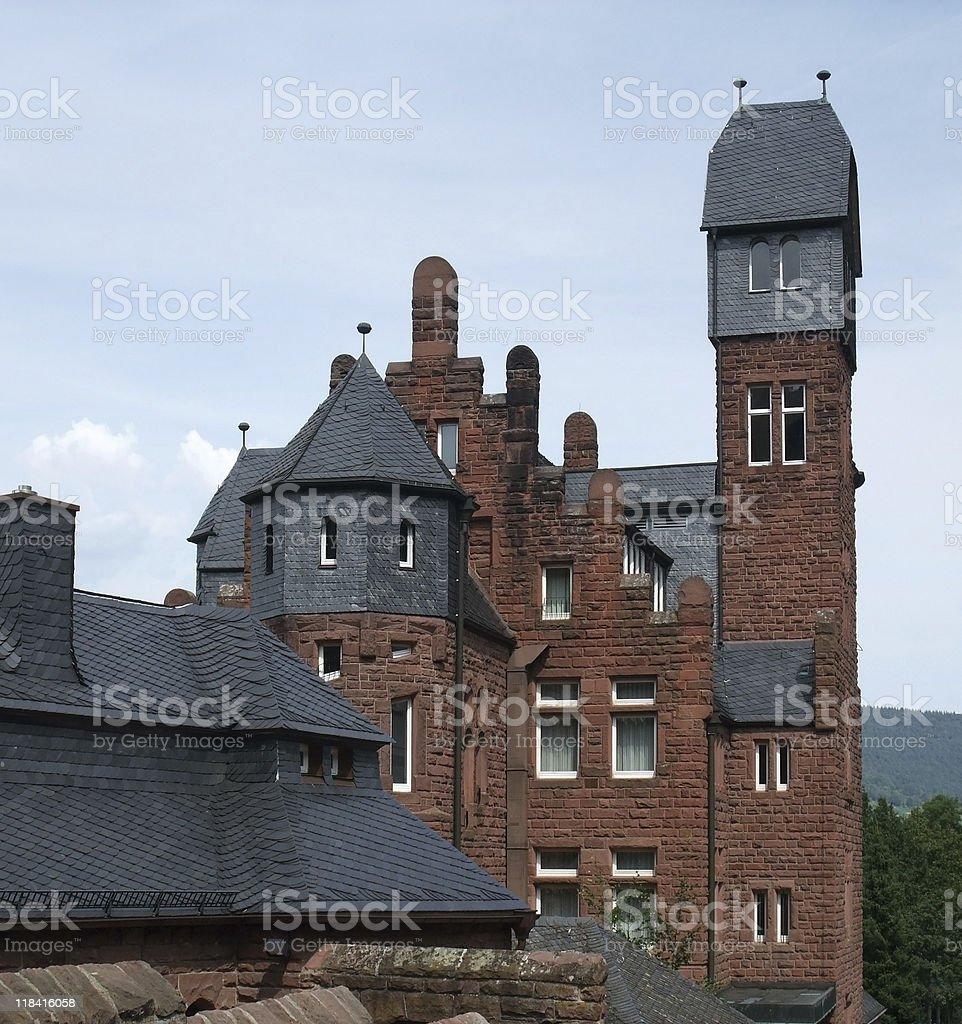 big house in Miltenberg stock photo