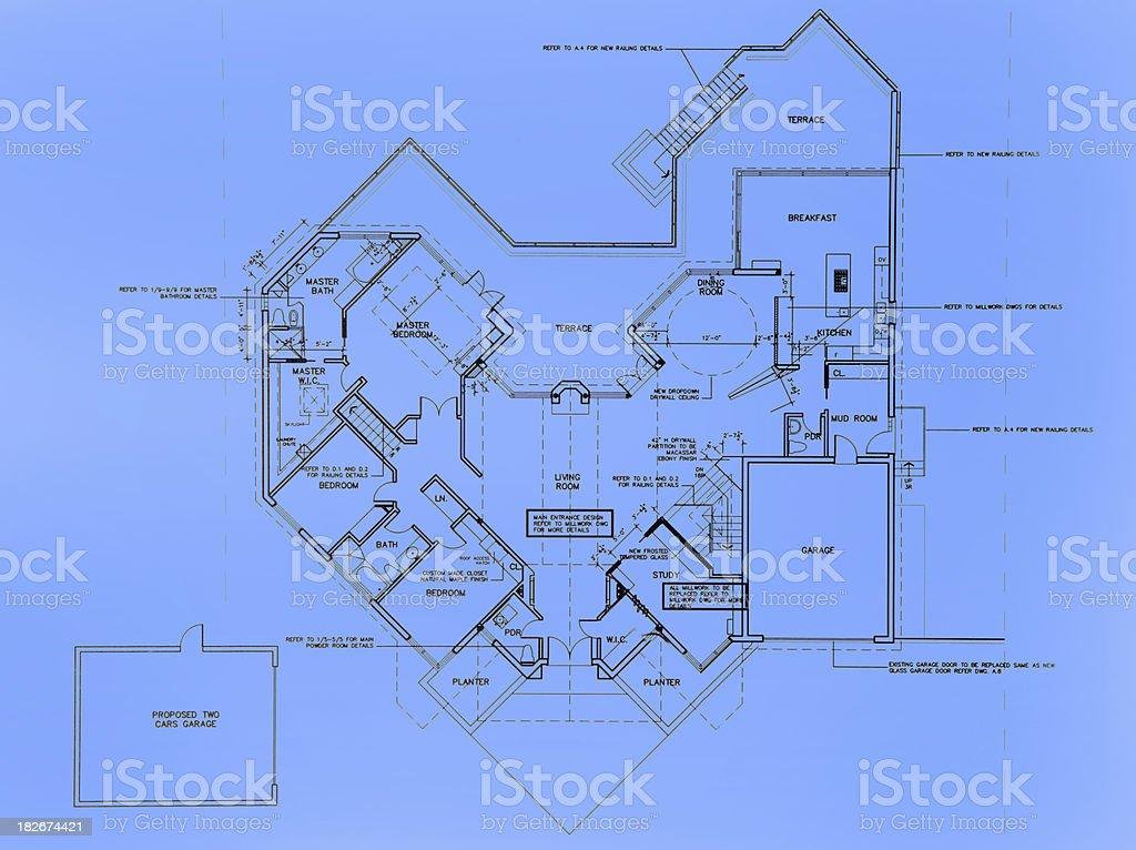 Big House layout royalty-free stock photo