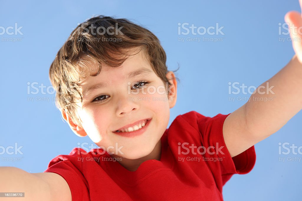 Big hug royalty-free stock photo