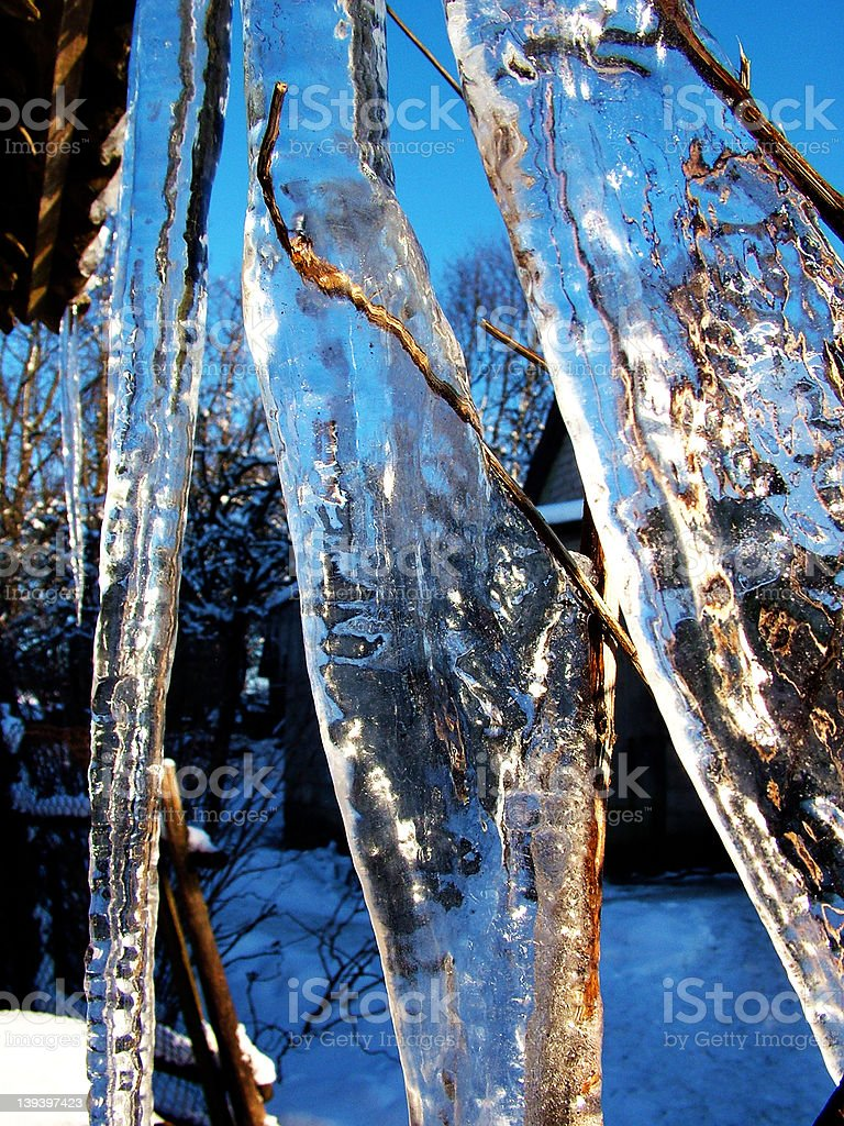 Big icicle royalty-free stock photo