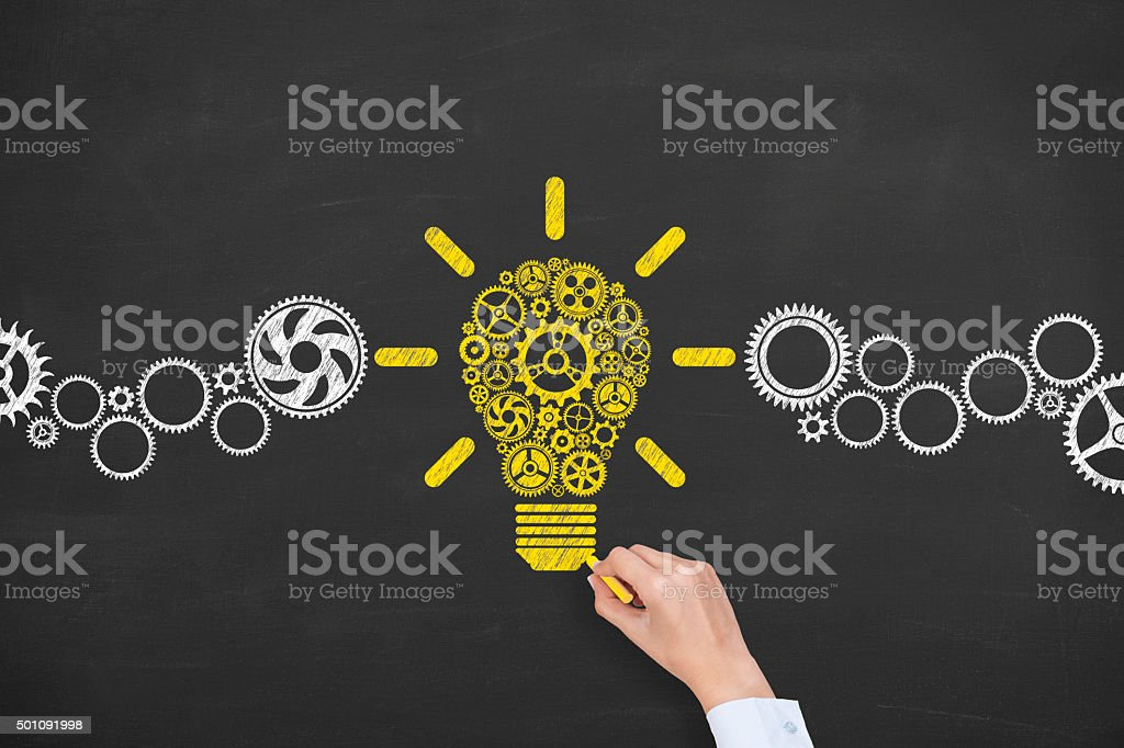 Big Idea Concept on Chalkboard stock photo