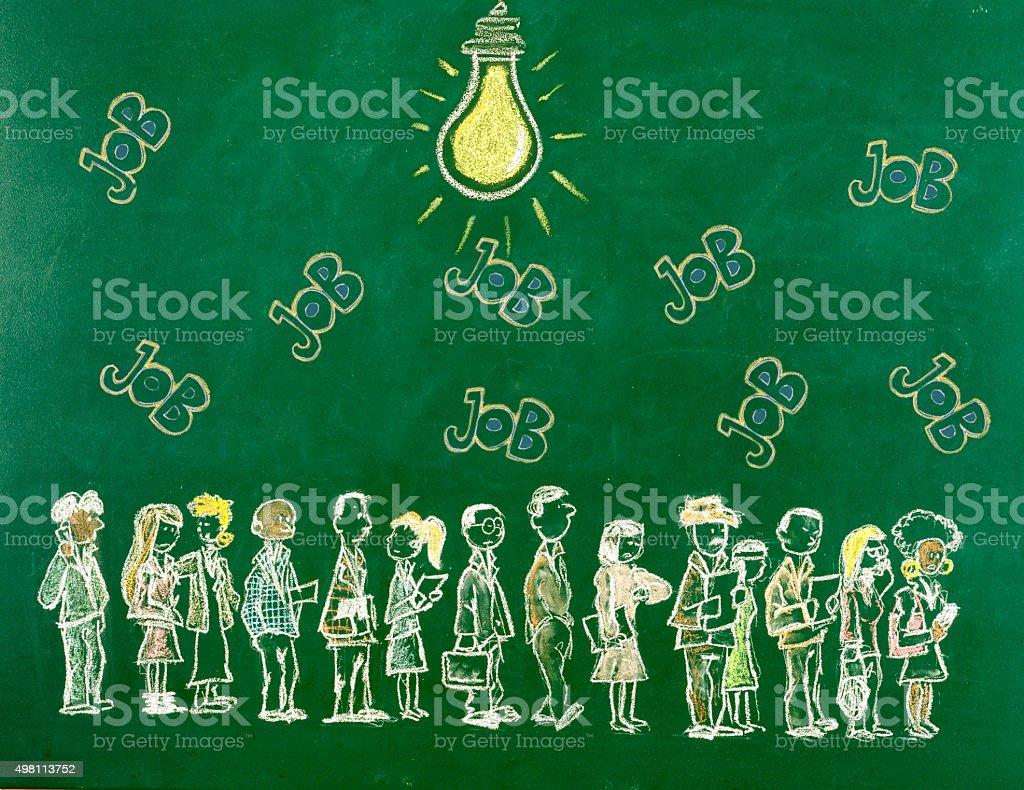 Big idea for a job vector art illustration