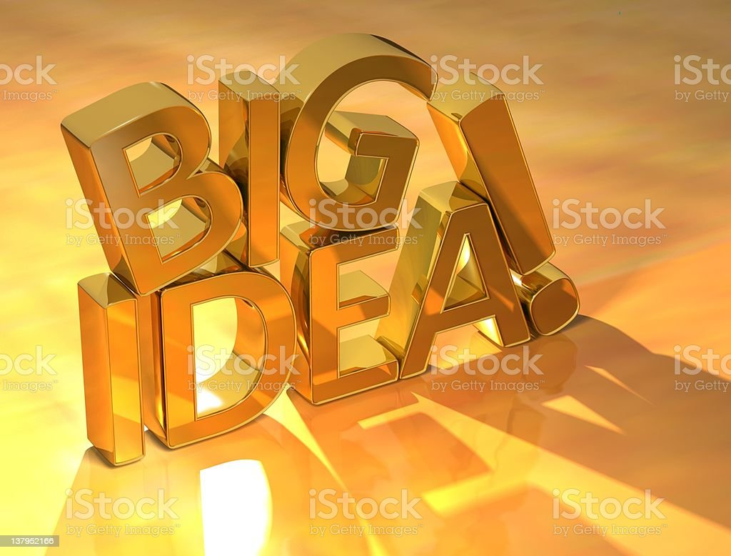 Big Idea Gold Text royalty-free stock photo
