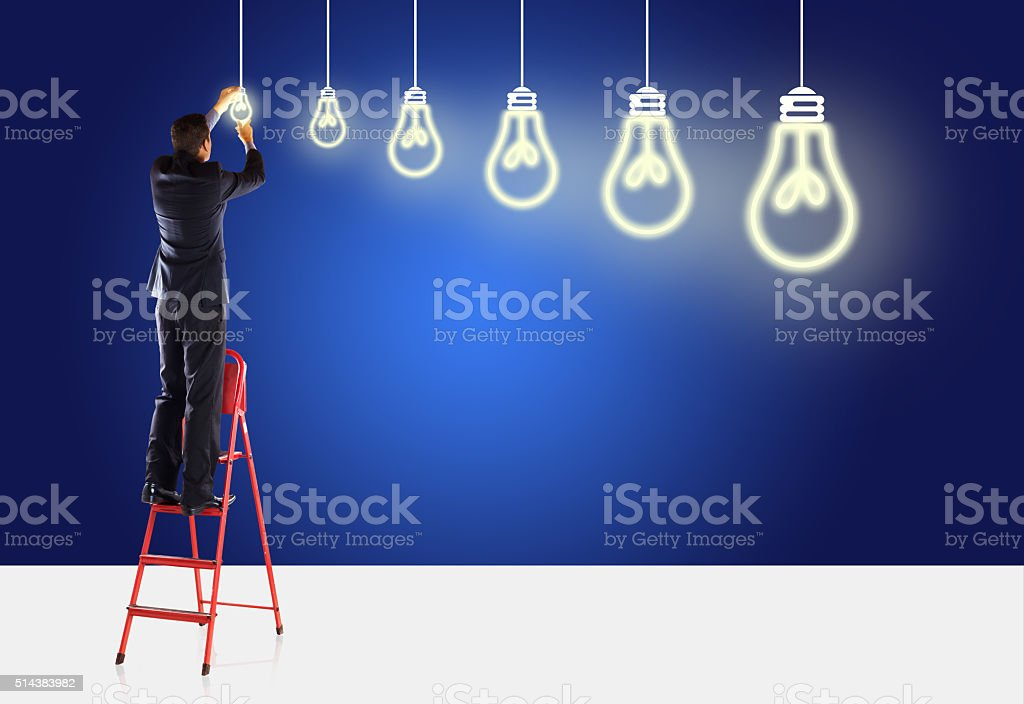 Big Ideas and small Ideas stock photo