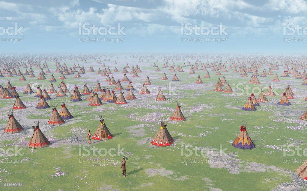 Big Indian Camp stock photo