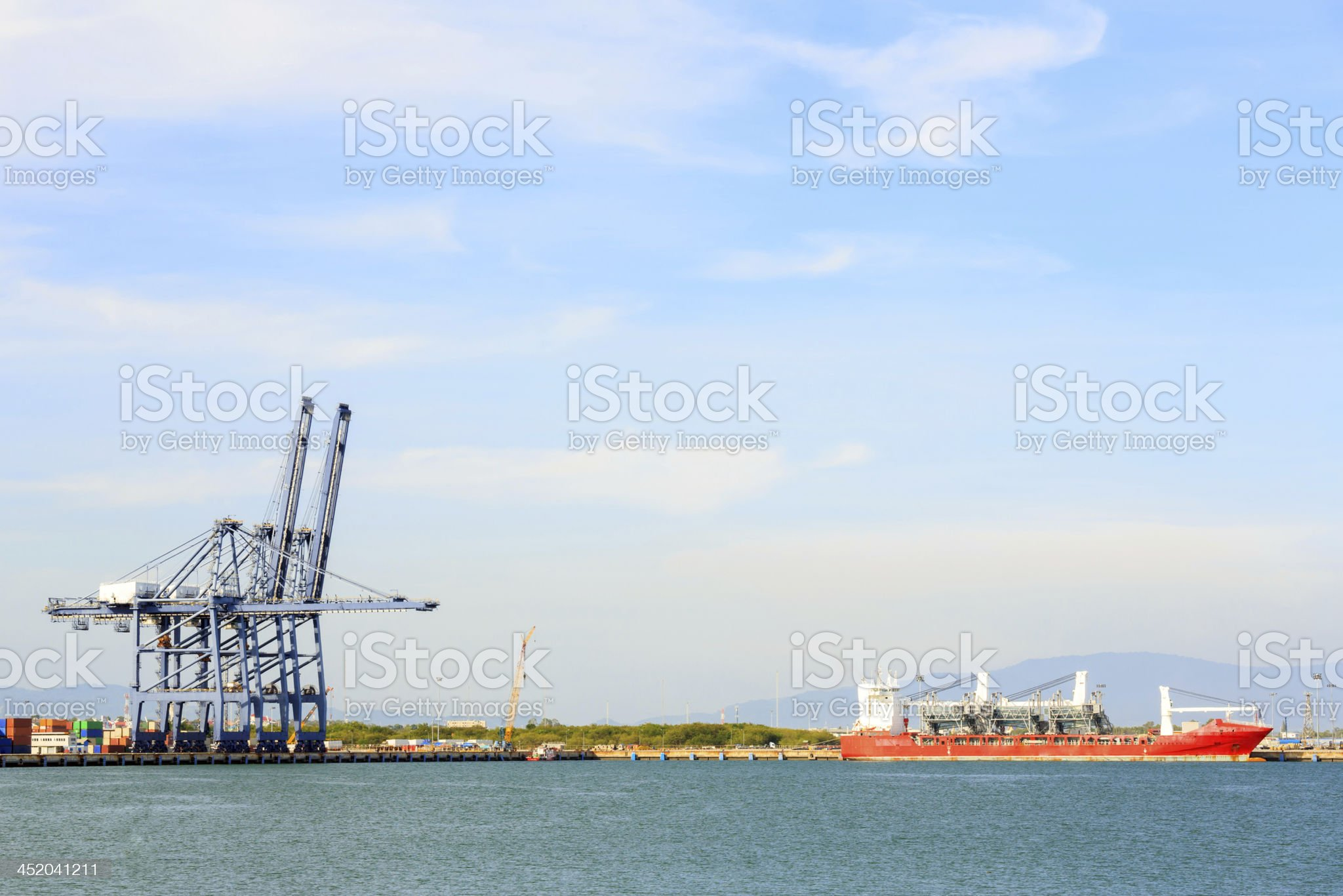 Big Industrial Port royalty-free stock photo