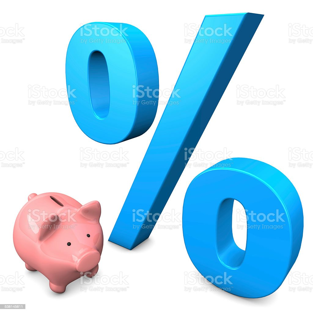 Big Interest Piggy Bank stock photo