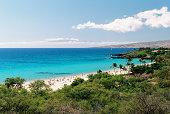 Big Island Hawaii Turquoise Pacific ocean tourist beach scene