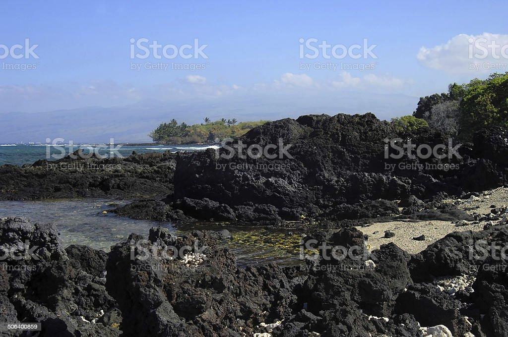 Big Island Lava Rock Beaches royalty-free stock photo