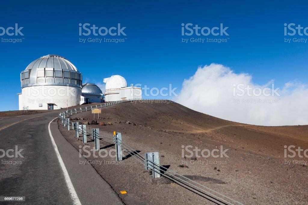 big island mauna kea gemini observatory hawaii islands stock photo