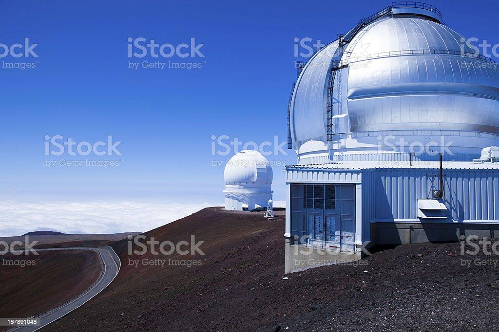 Big Island Mauna Kea Gemini observatory Hawaii stock photo