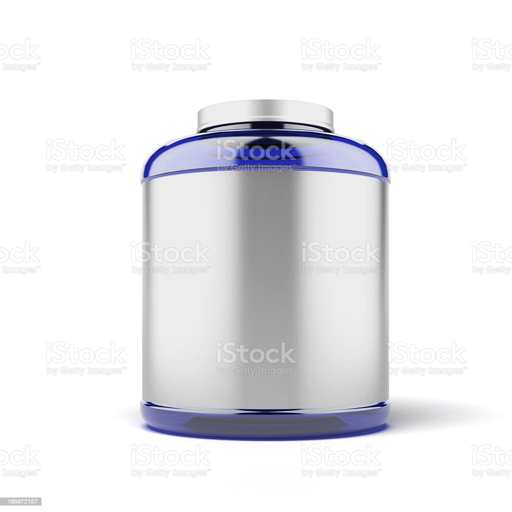 Big Jar for sport supplements royalty-free stock photo