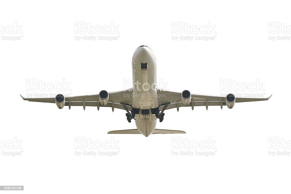 big jet plane taking off royalty-free stock photo