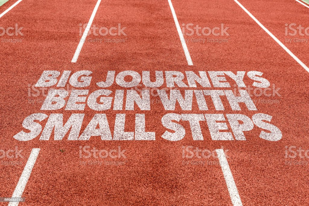 Big Journeys Begin With Small Steps stock photo