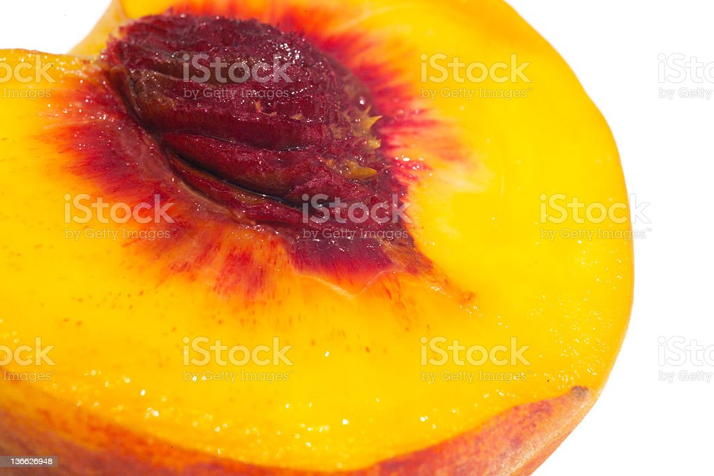big juicy peach royalty-free stock photo
