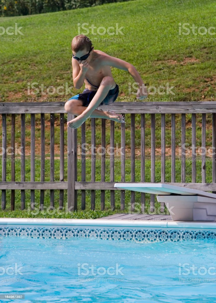 Big Jump! stock photo