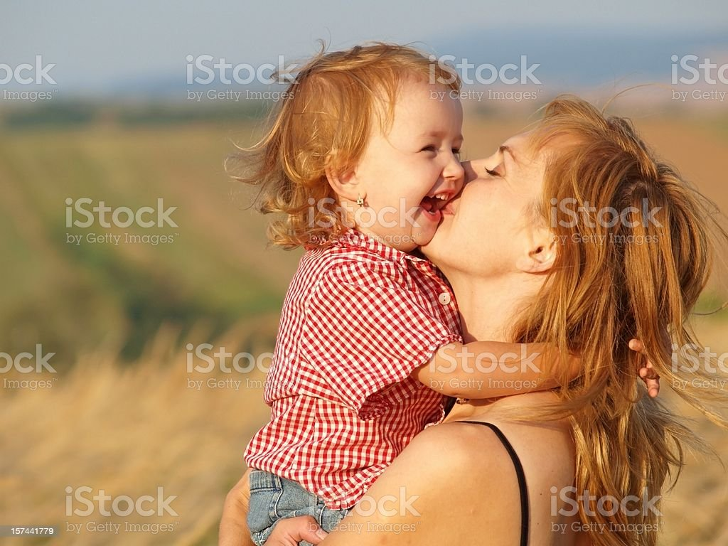Big kiss royalty-free stock photo