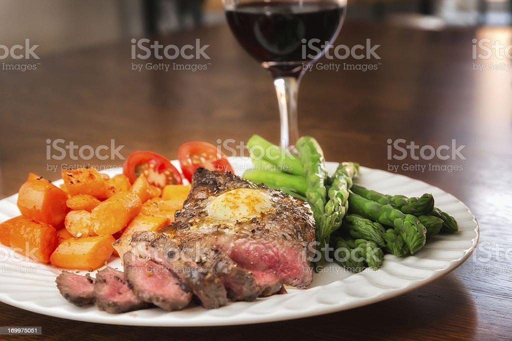 Big Kobe New York Steak royalty-free stock photo