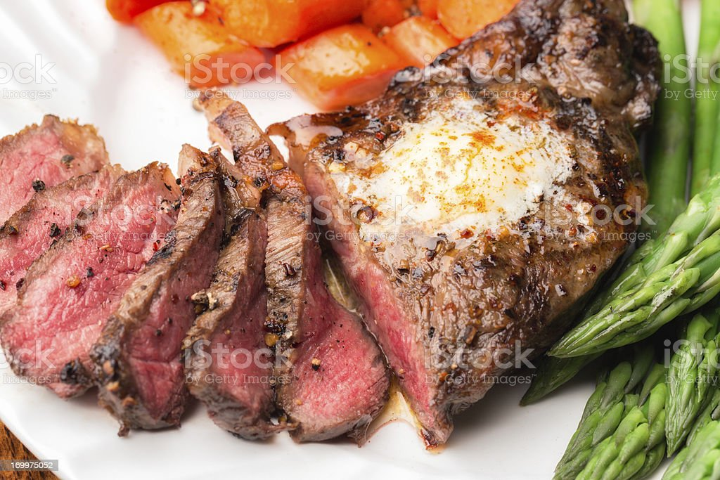 Big Kobe New York Steak stock photo