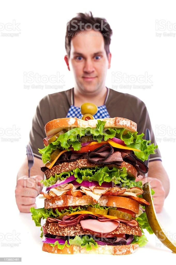 Big Large Giant Lunch royalty-free stock photo