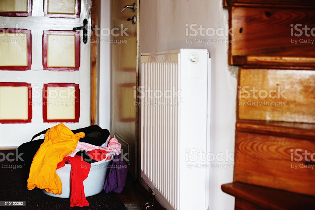 big laundry in the house royalty-free stock photo
