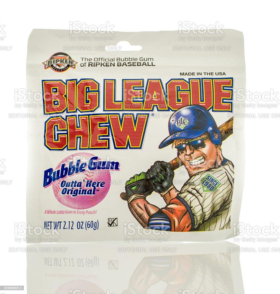 Big League Bubble Gum stock photo