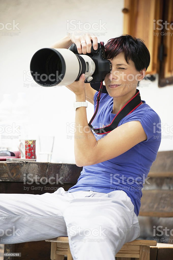 Big Lense royalty-free stock photo