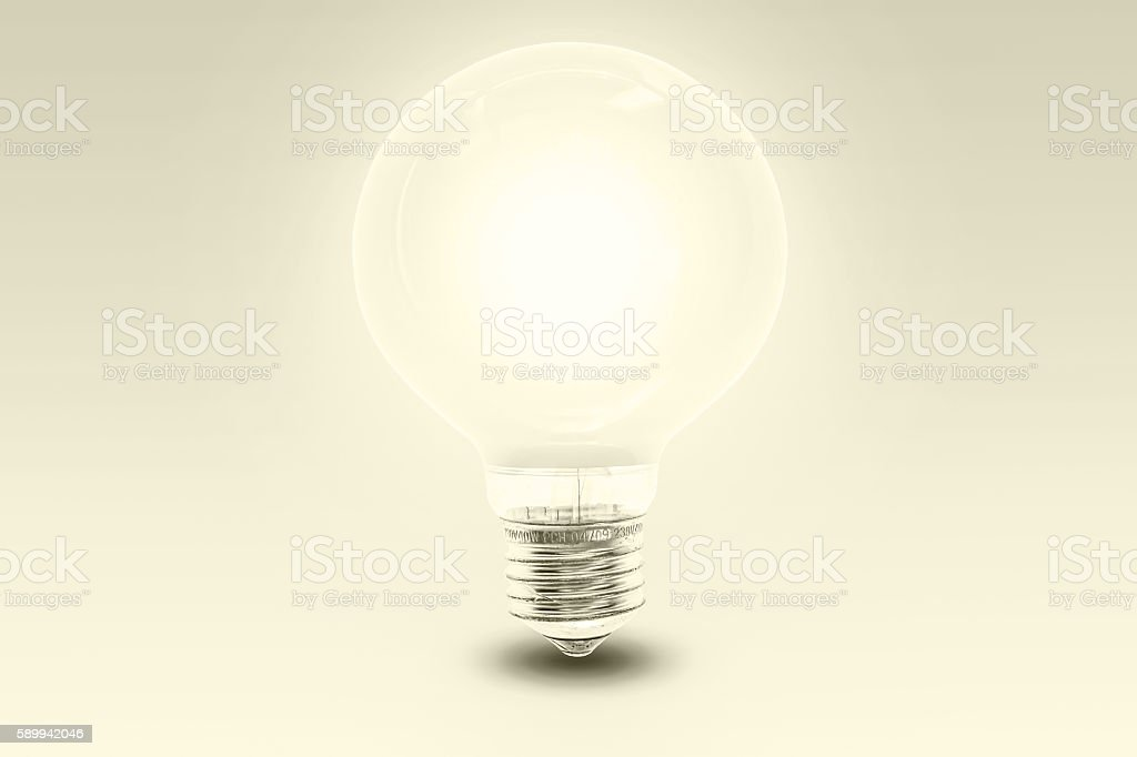 big light bulb - monochrom stock photo