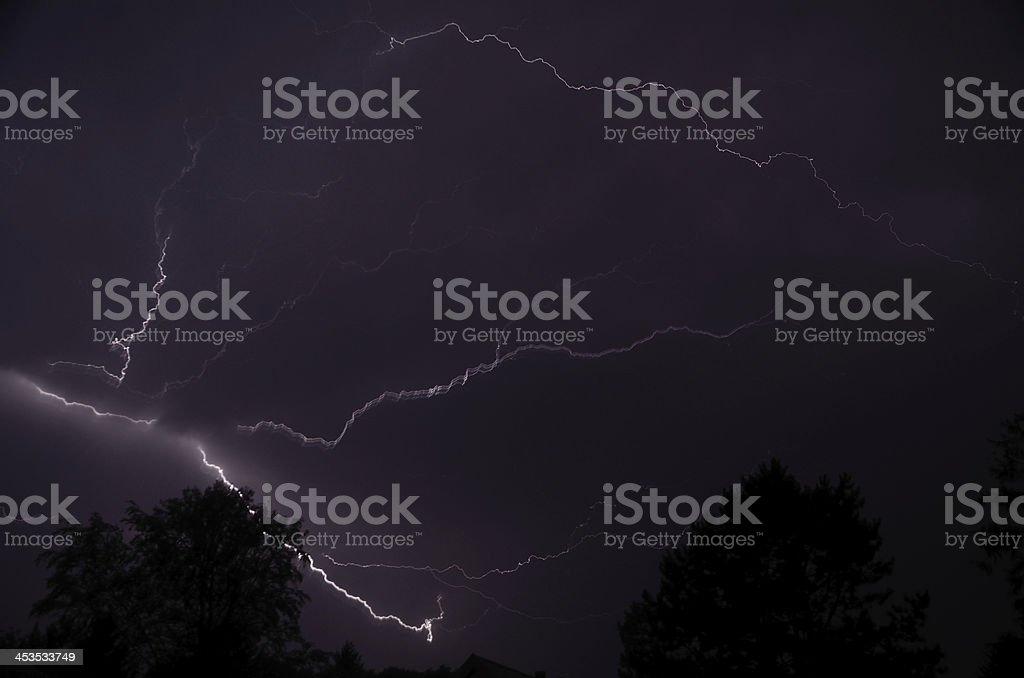 big lightning stock photo