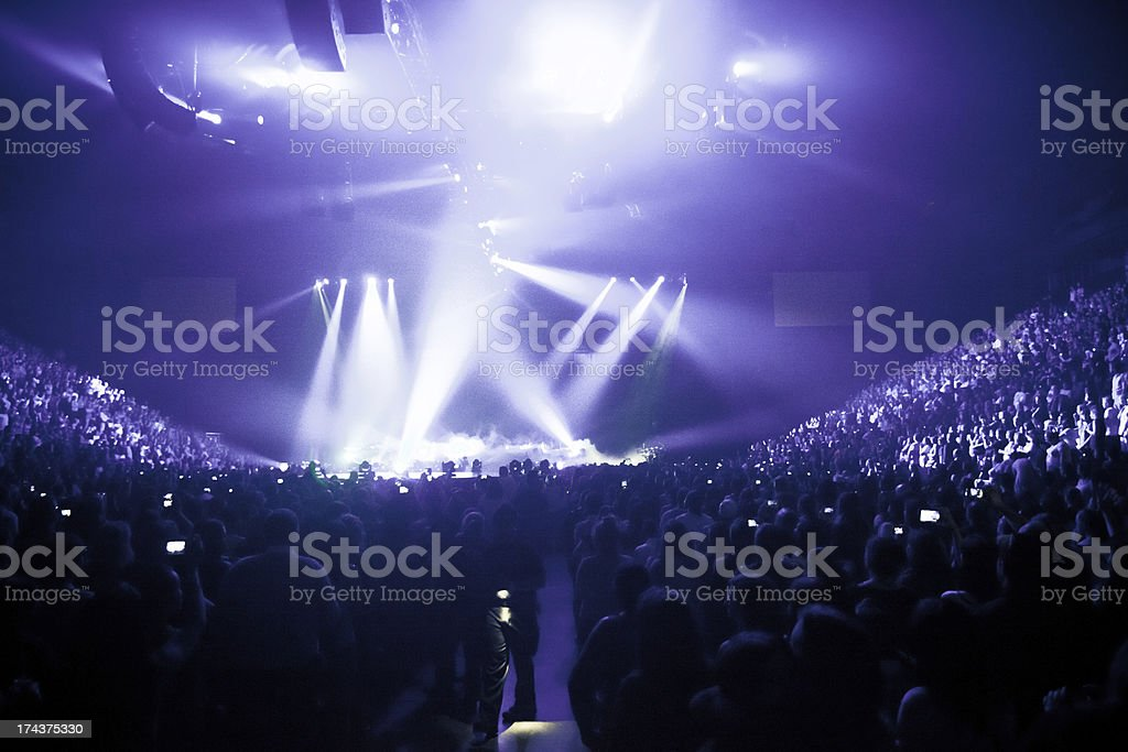Big Live Music Concert stock photo