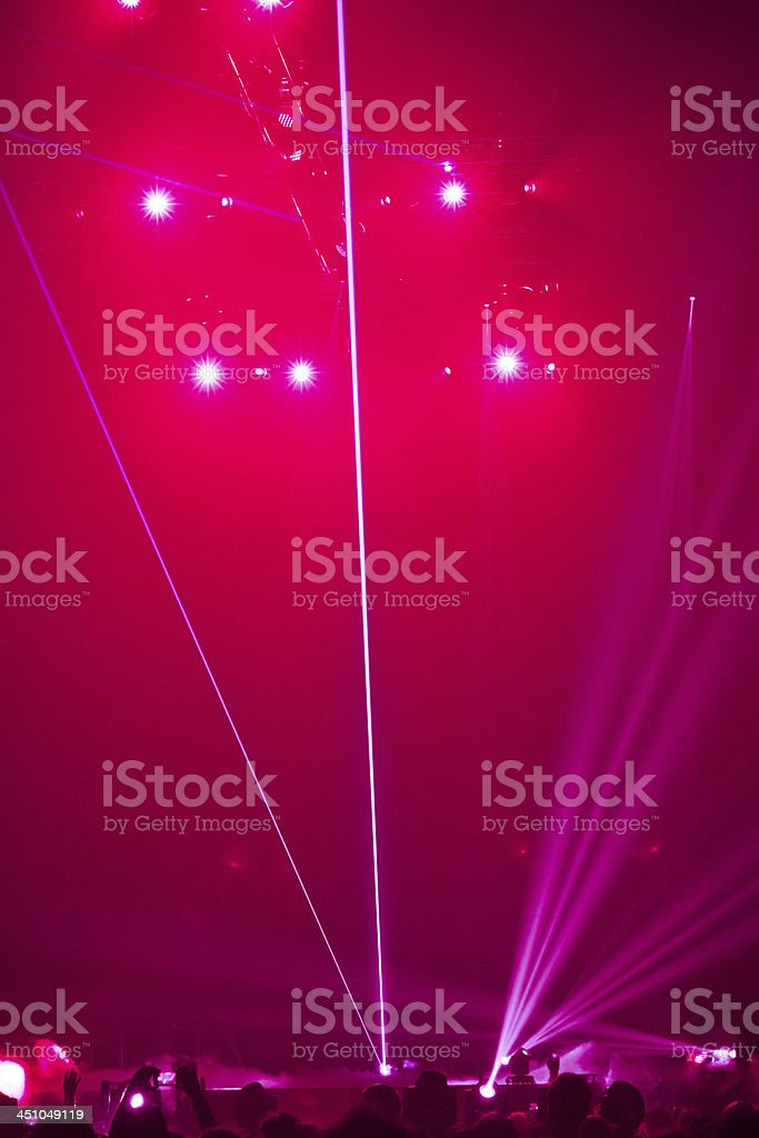 Big Live Music Concert royalty-free stock photo