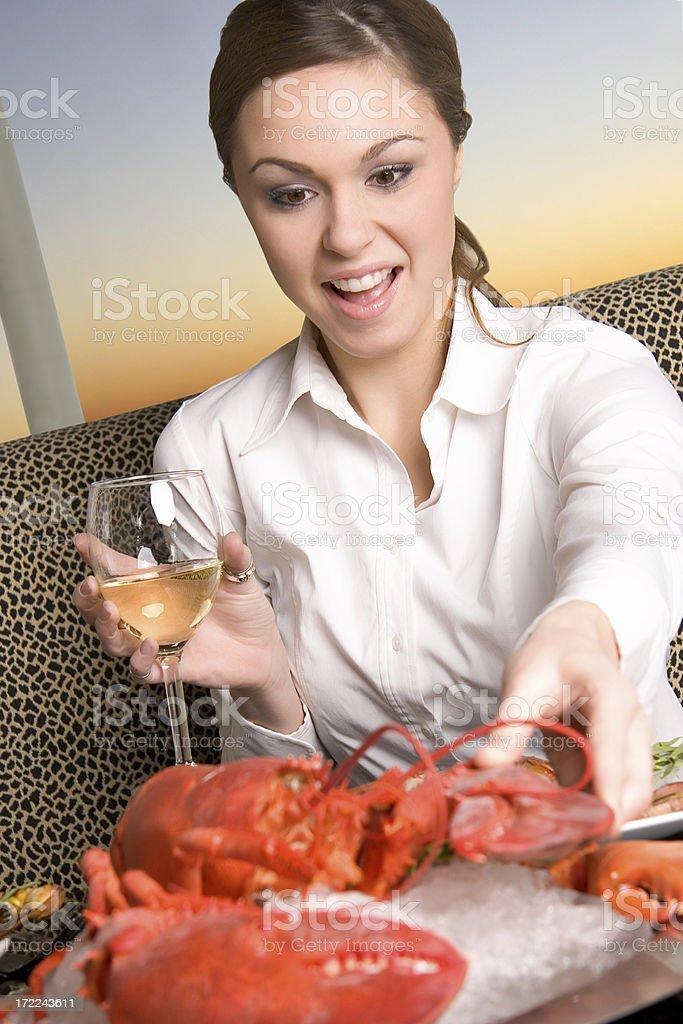 Big Lobster Dinner Night royalty-free stock photo