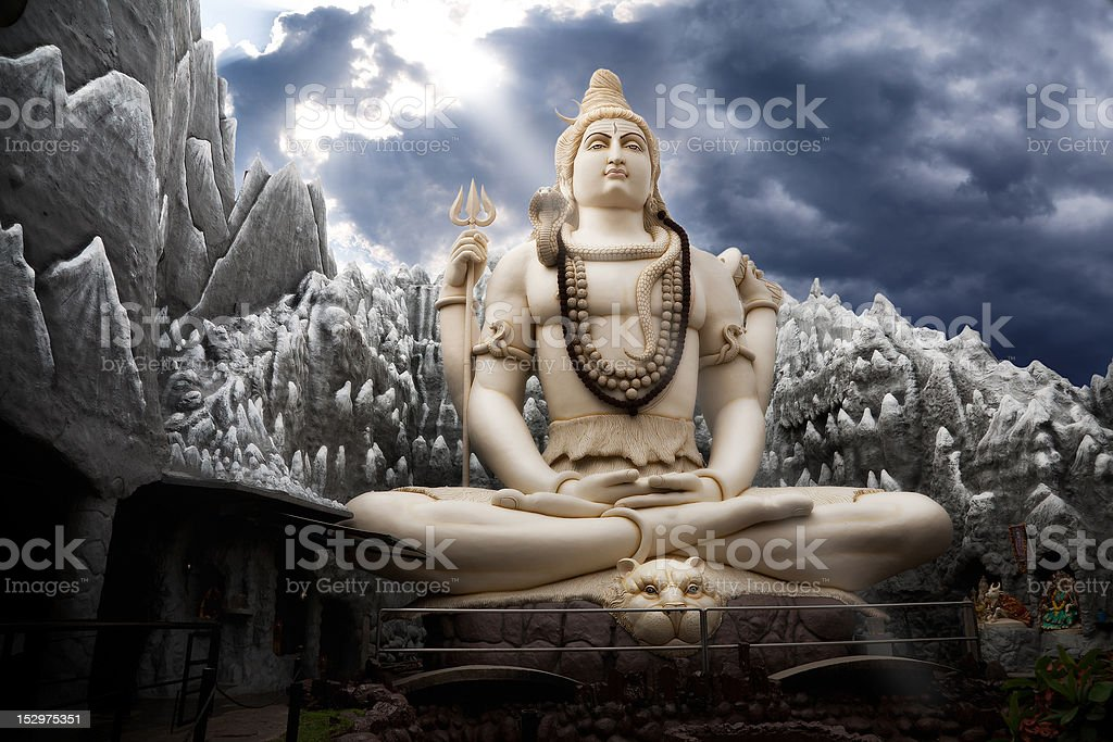 Big Lord Shiva statue in Bangalore stock photo