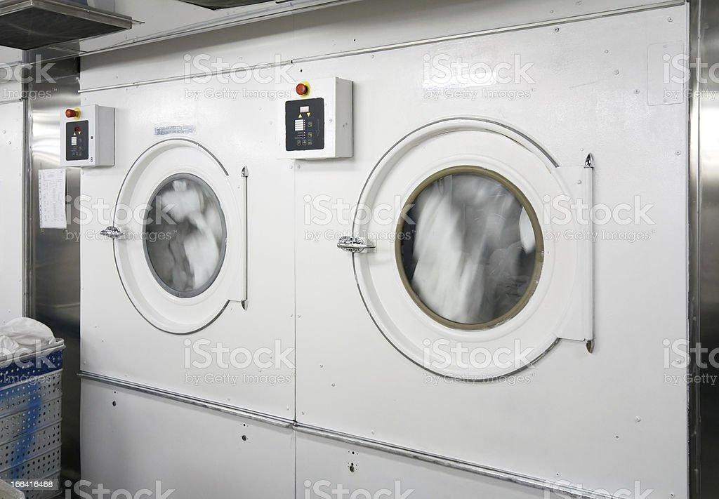 Big loundry washing machine stock photo