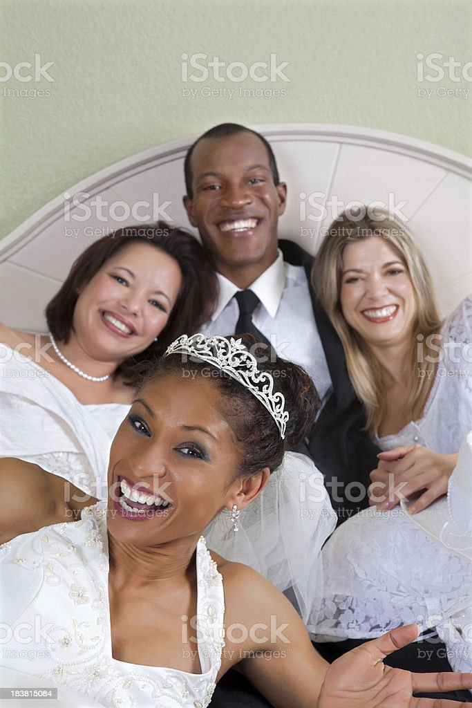 Big Love polygamy royalty-free stock photo