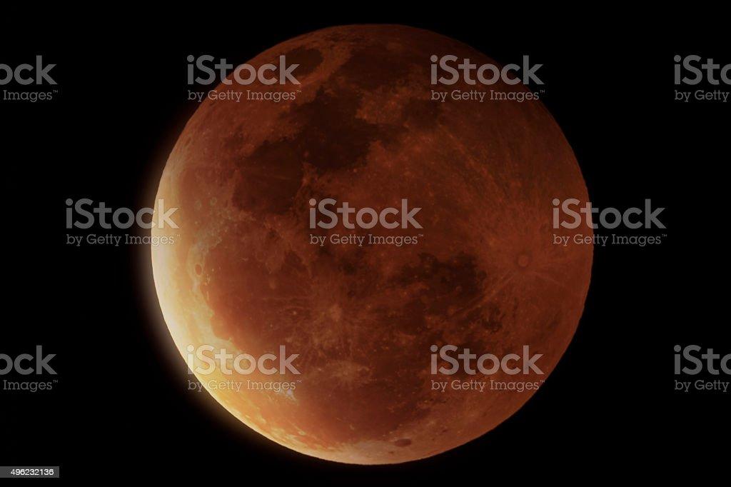Große Mond eclips Lizenzfreies stock-foto