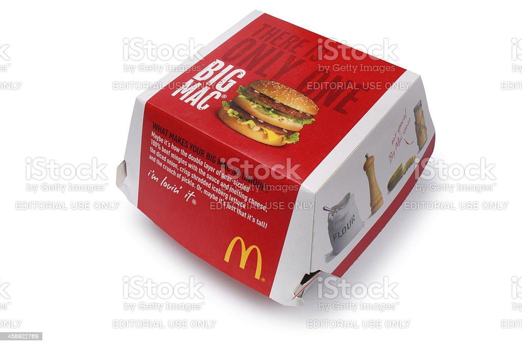 Big Mac Carton royalty-free stock photo