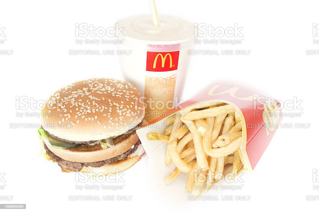 Big Mac Menu royalty-free stock photo