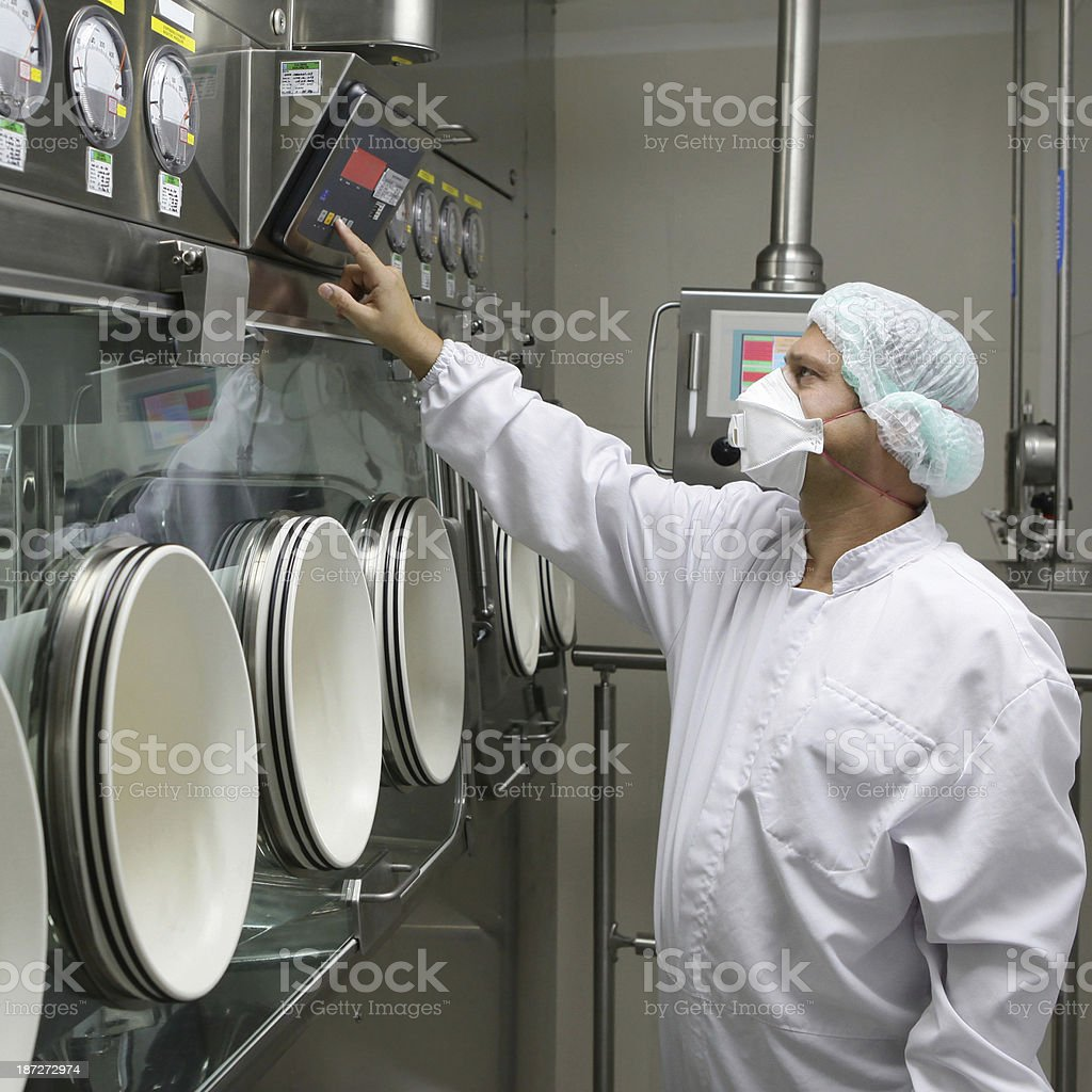 Big machines in food factory stock photo