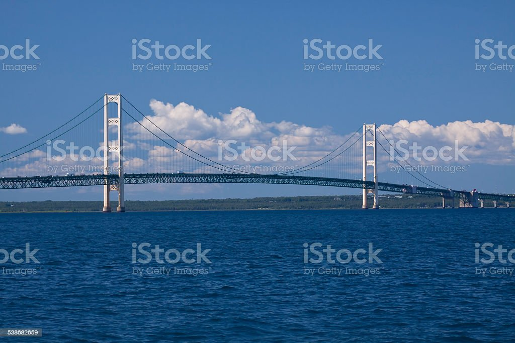 Big Mackinac Bridge stock photo