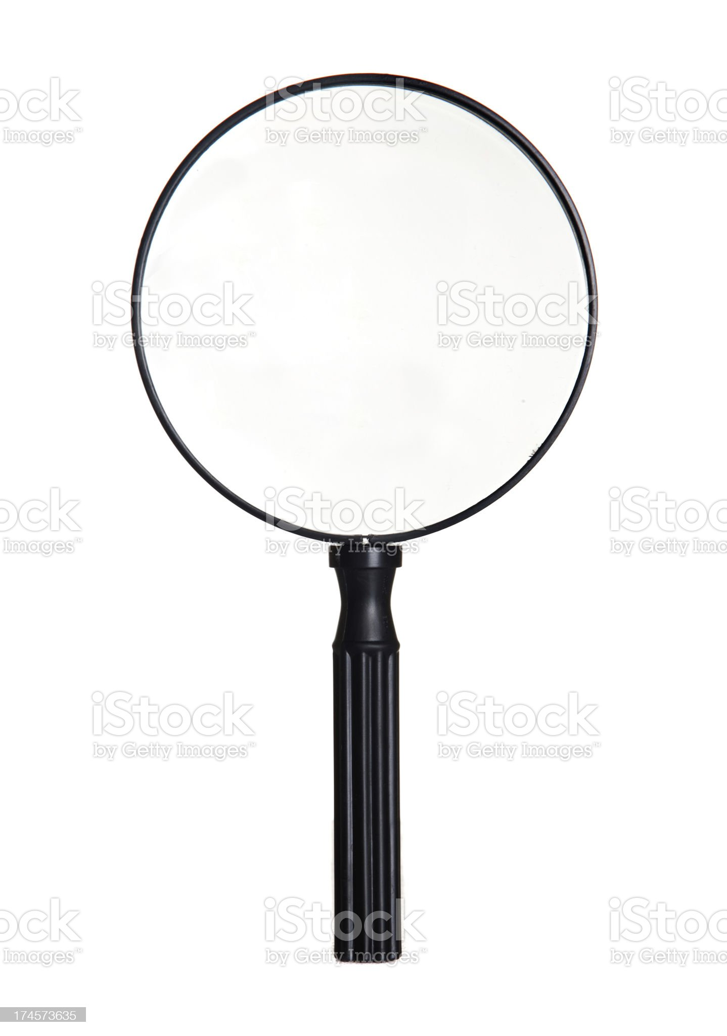 Big magnifier royalty-free stock photo