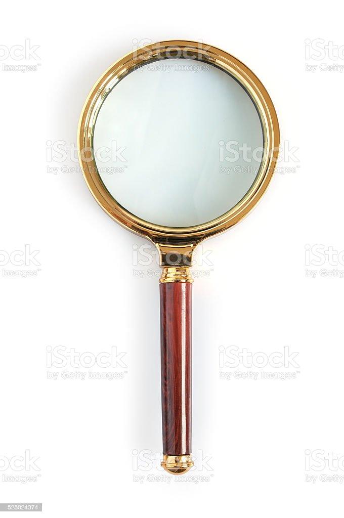 Big magnifying glass stock photo