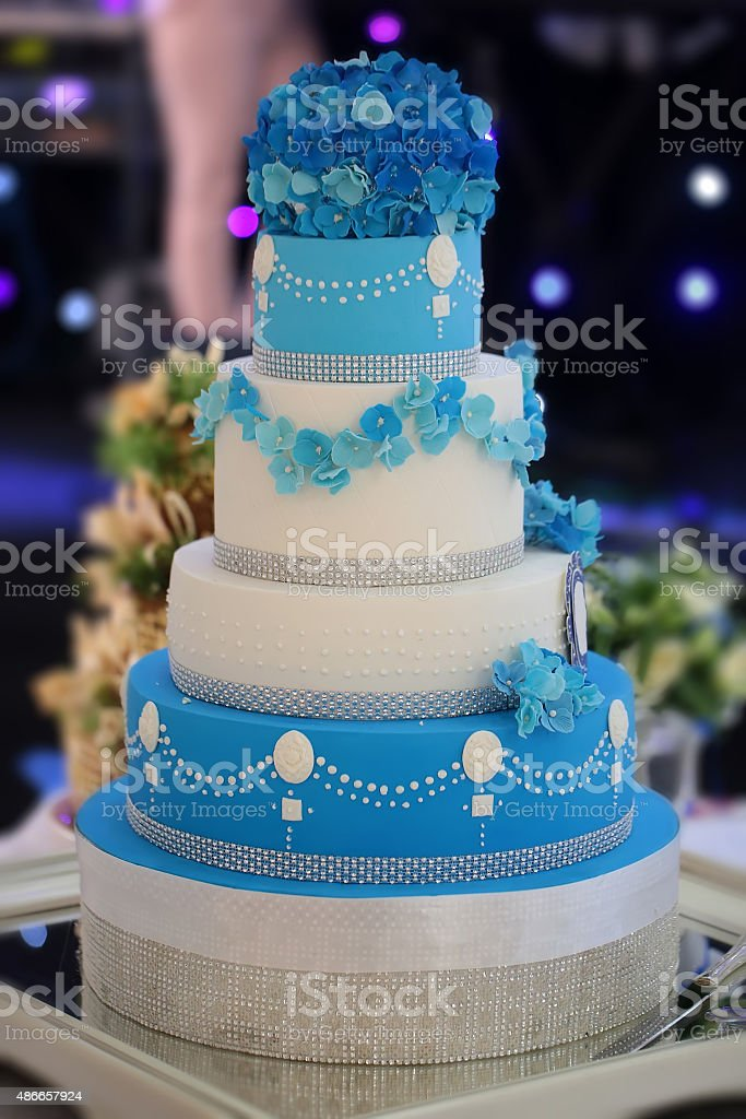 Big many-tier cake stock photo
