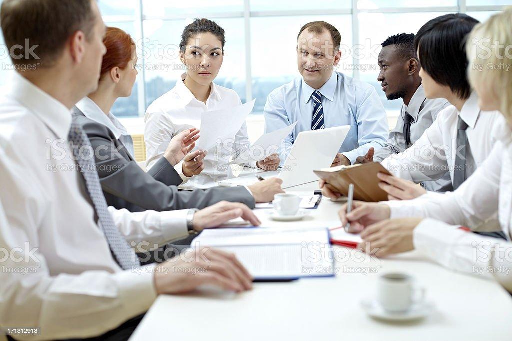 Big meeting stock photo